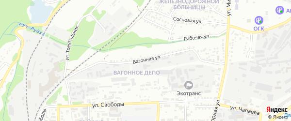 Вагонная улица на карте Старого Оскола с номерами домов