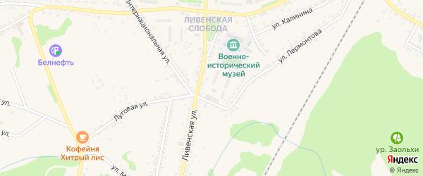 Переулок Павлова на карте Нового Оскола с номерами домов