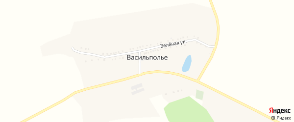 Зеленая улица на карте хутора Васильполья с номерами домов