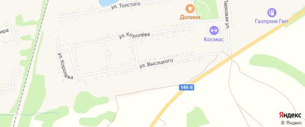 Улица Высоцкого на карте поселка Волоконовки с номерами домов