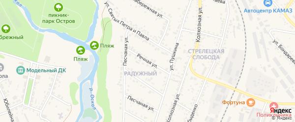 Речная улица на карте Нового Оскола с номерами домов