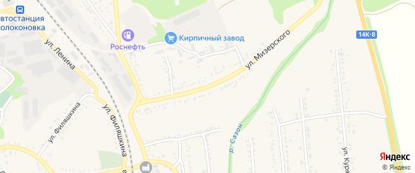 Улица Мизерского на карте поселка Волоконовки с номерами домов