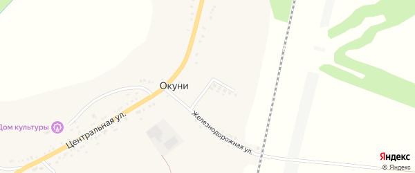 Лесной переулок на карте села Окуни с номерами домов