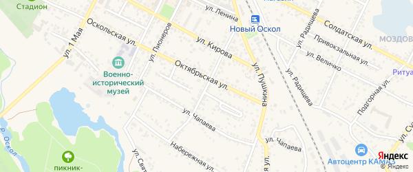 Улица Дзержинского на карте Нового Оскола с номерами домов