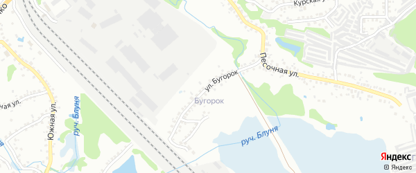 Улица Бугорок на карте Старого Оскола с номерами домов