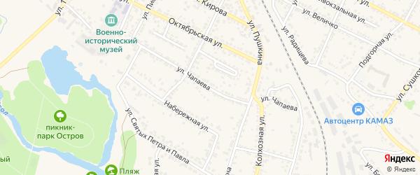 Улица Чапаева на карте Нового Оскола с номерами домов