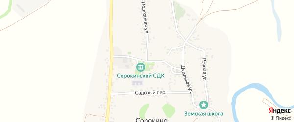 Центральная улица на карте села Сорокино с номерами домов