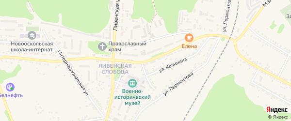 Дорожная улица на карте Нового Оскола с номерами домов