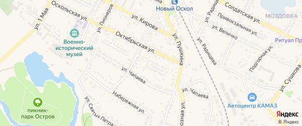 Улица Костицина на карте Нового Оскола с номерами домов