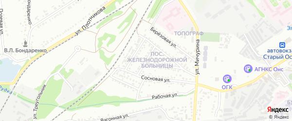 Северная улица на карте Старого Оскола с номерами домов