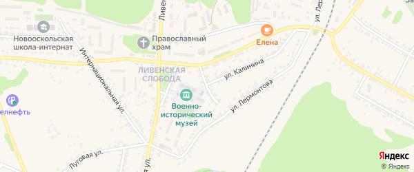 Советский переулок на карте Нового Оскола с номерами домов