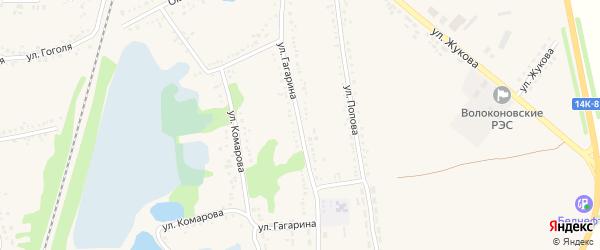 Улица Гагарина на карте поселка Волоконовки с номерами домов