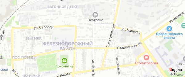 Школьная улица на карте Старого Оскола с номерами домов