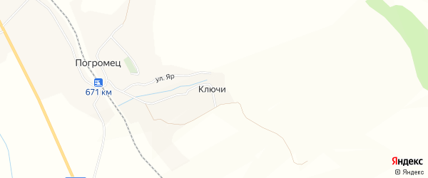 Карта хутора Ключи в Белгородской области с улицами и номерами домов