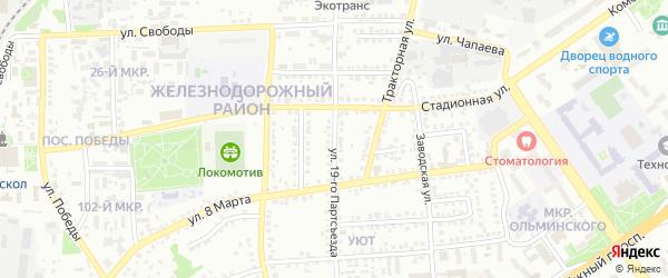 Улица 19 Партсъезда на карте Старого Оскола с номерами домов