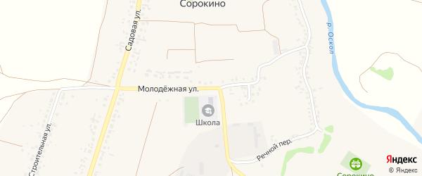 Молодежная улица на карте села Сорокино с номерами домов