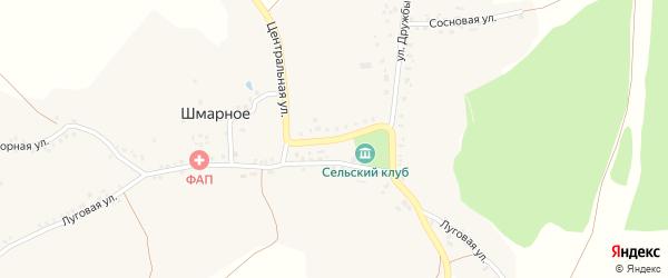 Центральная улица на карте Шмарного села с номерами домов