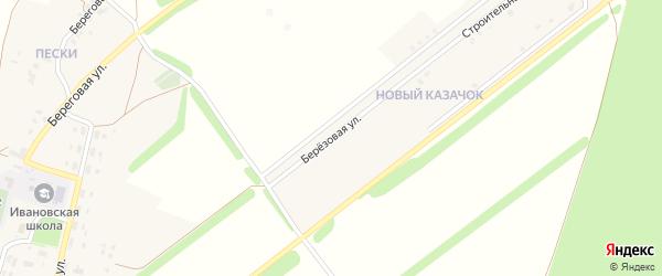 Березовая улица на карте села Казачка с номерами домов