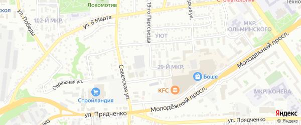 Юбилейная улица на карте Старого Оскола с номерами домов