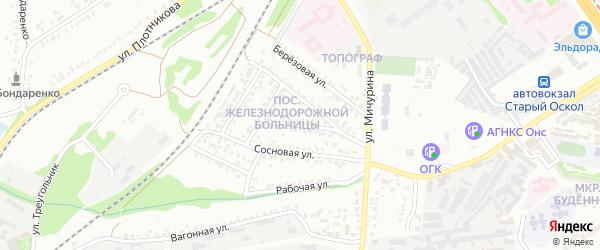 Солнечная улица на карте Старого Оскола с номерами домов