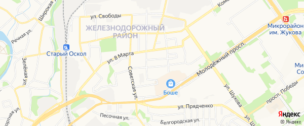 ГСК Уют на карте Старого Оскола с номерами домов