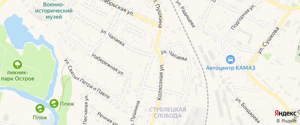 Улица Пушкина на карте Нового Оскола с номерами домов