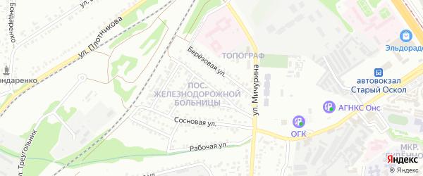 Рубежная улица на карте Старого Оскола с номерами домов