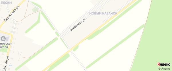 Улица Победы на карте села Казачка с номерами домов