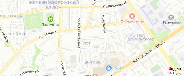 Переулок 19 Партсъезда на карте Старого Оскола с номерами домов