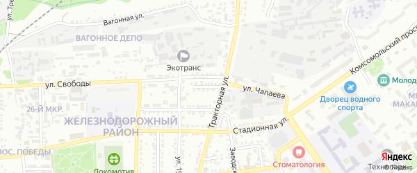 1-й Тракторный переулок на карте Старого Оскола с номерами домов