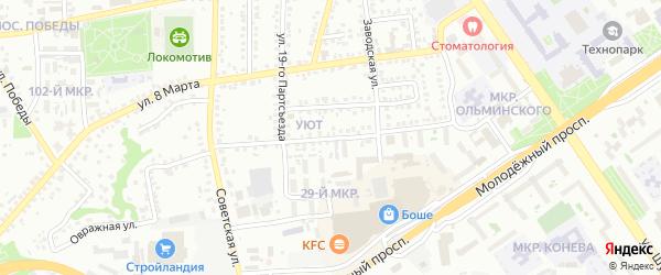 3-й Заводской переулок на карте Старого Оскола с номерами домов