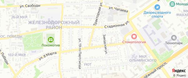 2-й Тракторный переулок на карте Старого Оскола с номерами домов