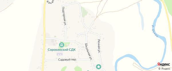 Школьная улица на карте села Сорокино с номерами домов