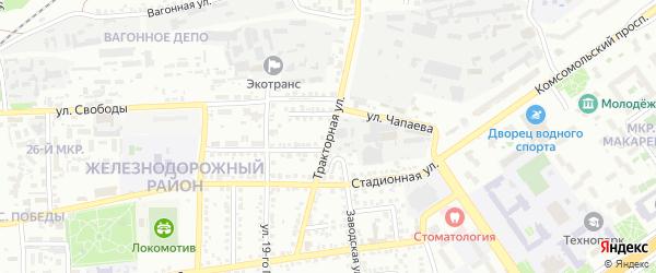 Тракторная улица на карте Старого Оскола с номерами домов