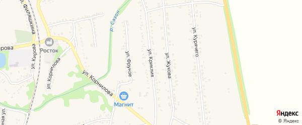 Улица Криклия на карте поселка Волоконовки с номерами домов