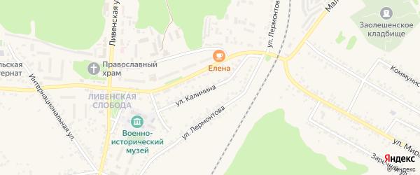 Улица Калинина на карте Нового Оскола с номерами домов
