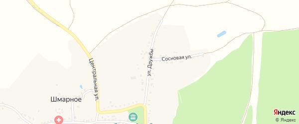 Улица Дружбы на карте Шмарного села с номерами домов