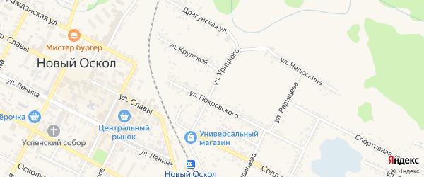 Улица Урицкого на карте Нового Оскола с номерами домов