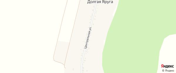 Центральная улица на карте поселка Долгой Яруги с номерами домов