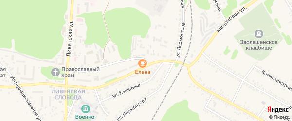 Улица Лермонтова на карте Нового Оскола с номерами домов