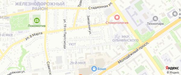 Заводская улица на карте Старого Оскола с номерами домов