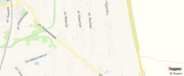 Улица Жукова на карте поселка Волоконовки с номерами домов