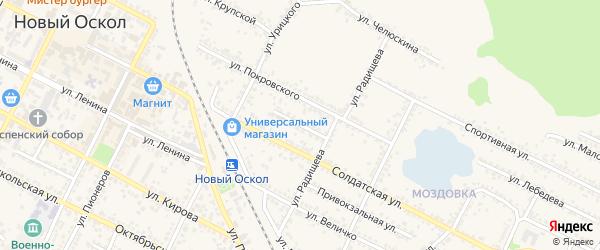 Улица Комарова на карте Нового Оскола с номерами домов