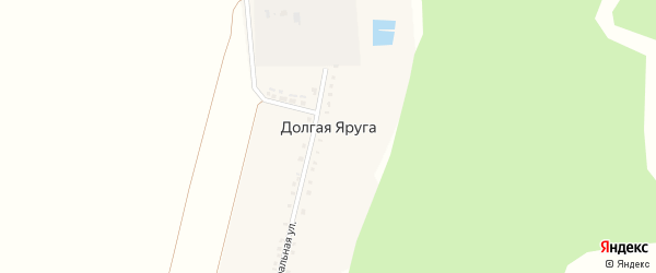 Центральный переулок на карте поселка Долгой Яруги с номерами домов