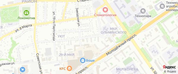 Переулок Чапаева на карте Старого Оскола с номерами домов