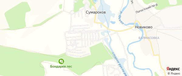 СТ Дубок на карте Старооскольского района с номерами домов