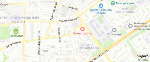 Улица Чапаева на карте Старого Оскола с номерами домов
