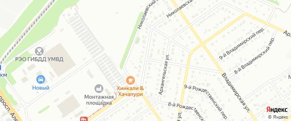 Николаевская улица на карте Старого Оскола с номерами домов