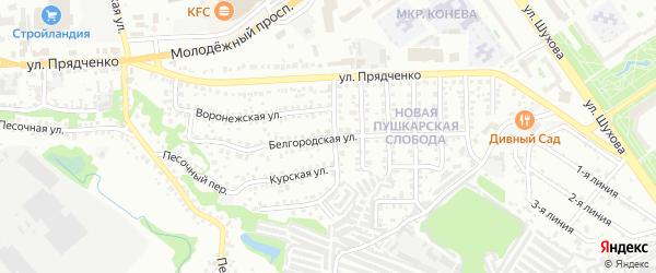 Белгородская улица на карте Старого Оскола с номерами домов