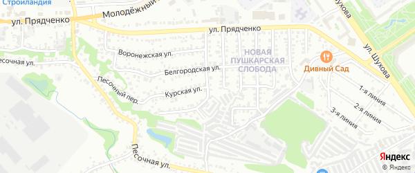 Курская улица на карте Старого Оскола с номерами домов